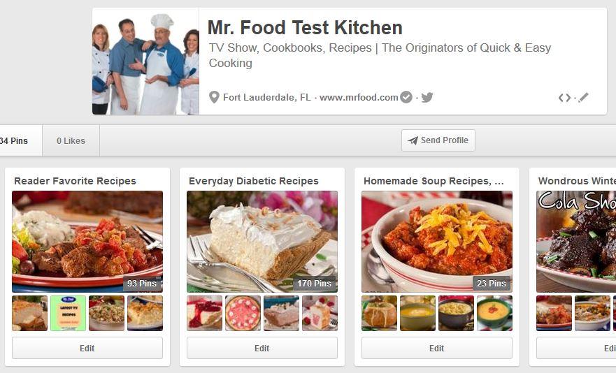 Mr. Food Test Kitchen Pinterest