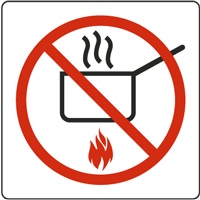 No Cooking Sign