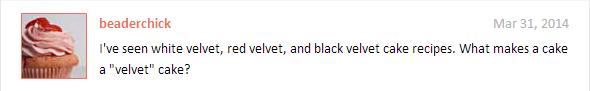 Velvet Question