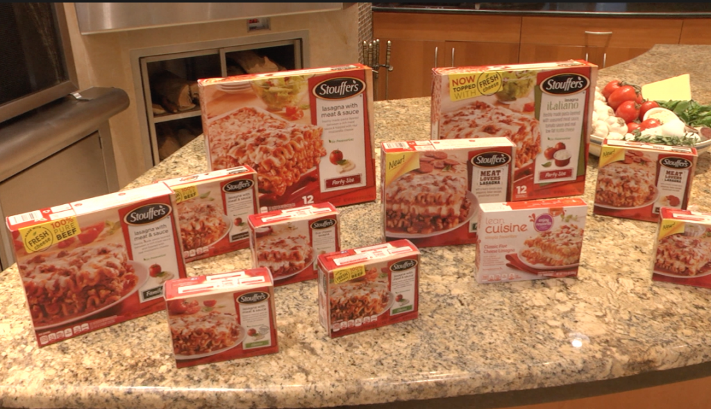 Sample of Stouffer's Products