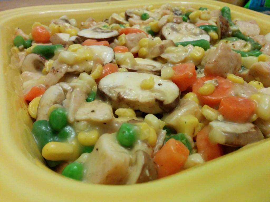 Chicken Pot Pie in Dish