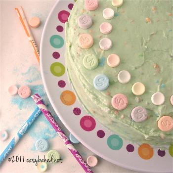 Sweet Tart and Pixy Stix Cake
