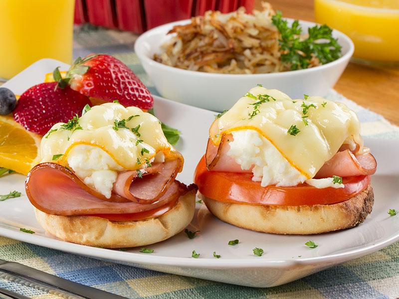 Breakfast English Muffin Melt