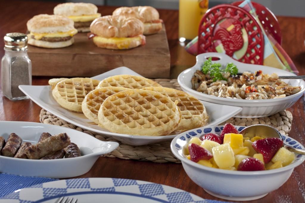 Frozen Food Breakfast Table