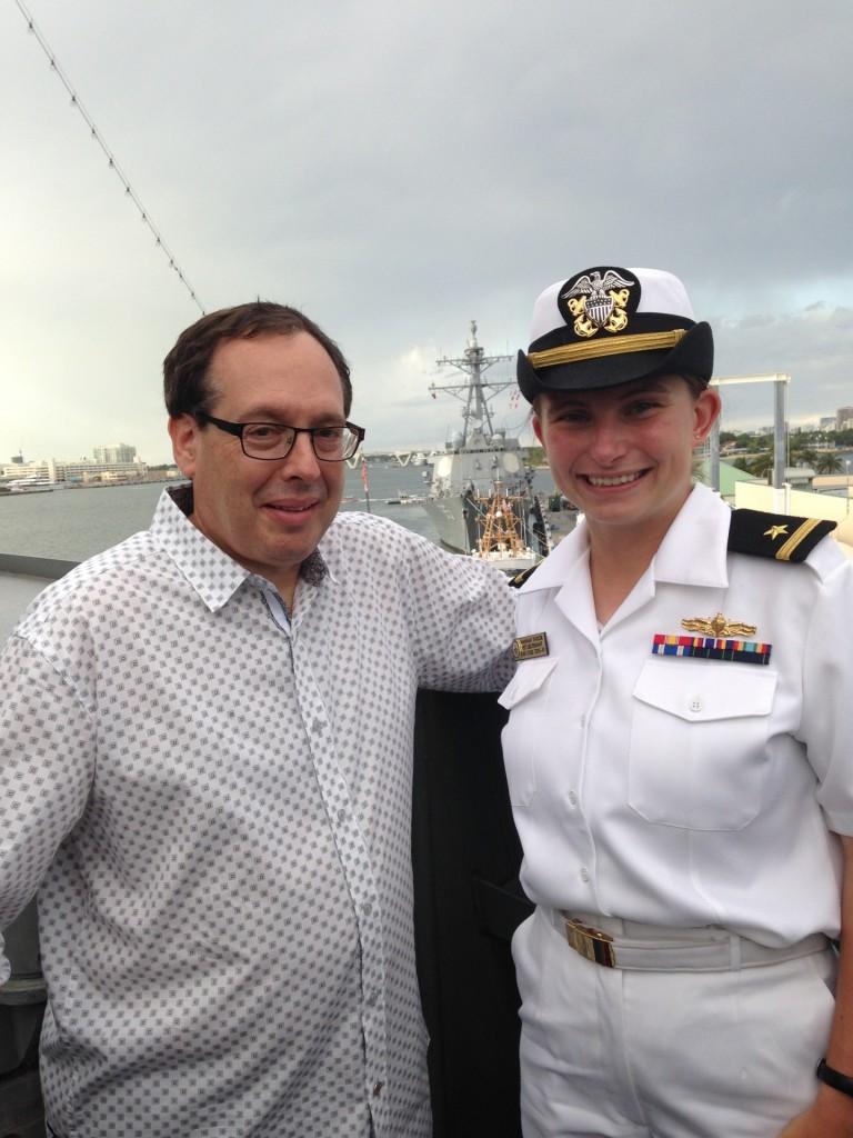 Howard and Lieutenant Hannah Taylor