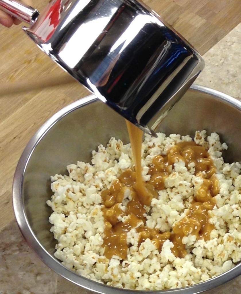 Pouring Caramel Sauce