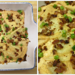 Cheesy Bacon Pierogi Bake