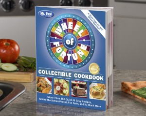 Wheel of Fortune Cookbook on Counter