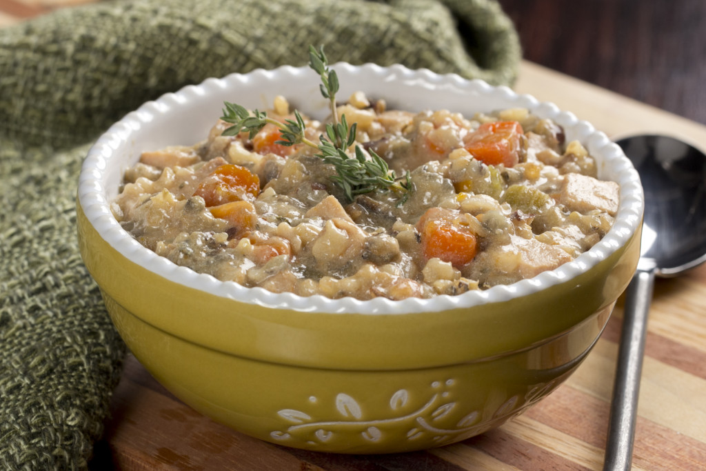 Lighter Chicken & Wild Rice Soup
