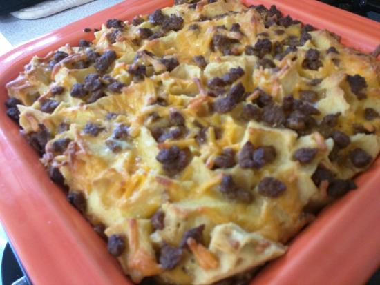 Make-Ahead Breakfast Casserole Baked