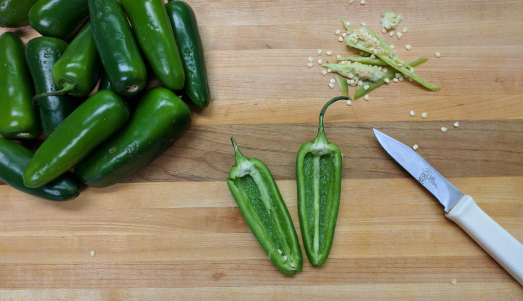 Cleaning Jalapenos