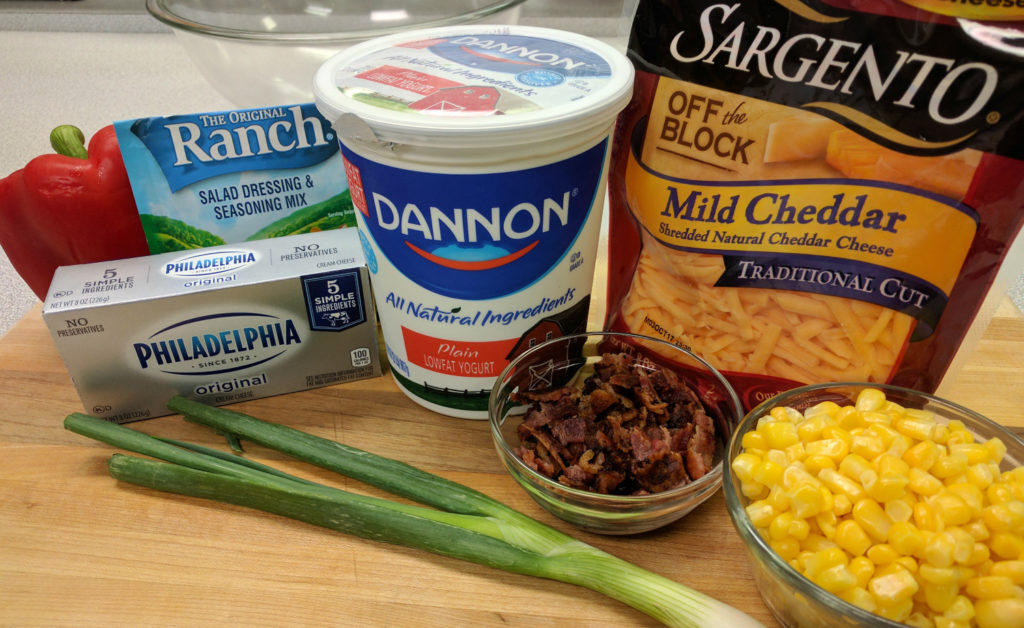 Loaded Ranch Dips Ingredients