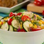Summer Zucchini Recipes - Fiesta Zucchini Salad