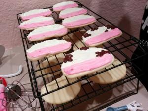 Cookies on cooling racks