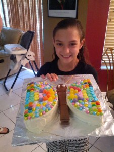 Sydney with Butterfly Cake