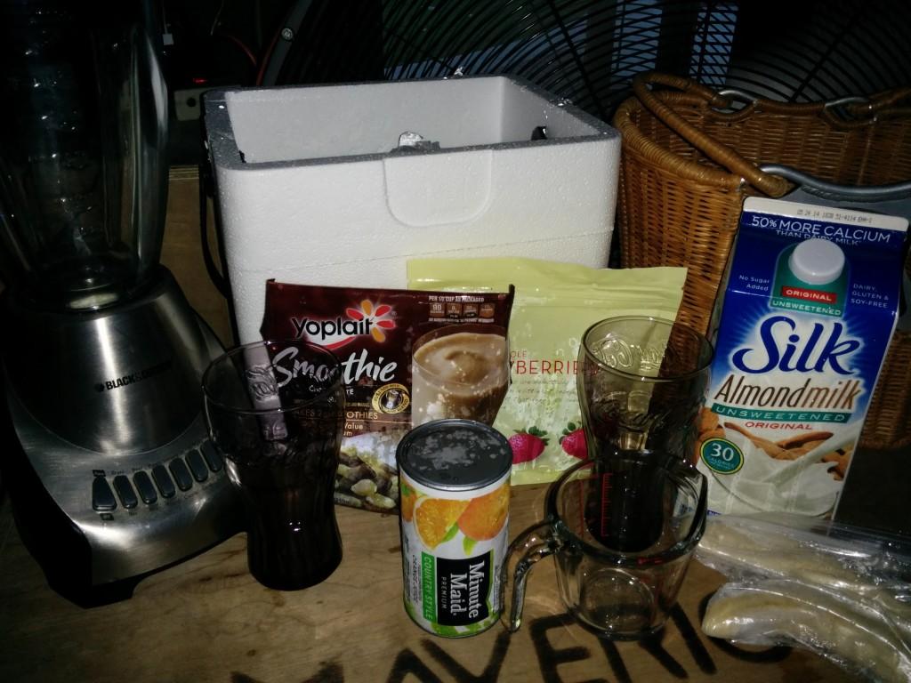 Smoothie Ingredients at Gym
