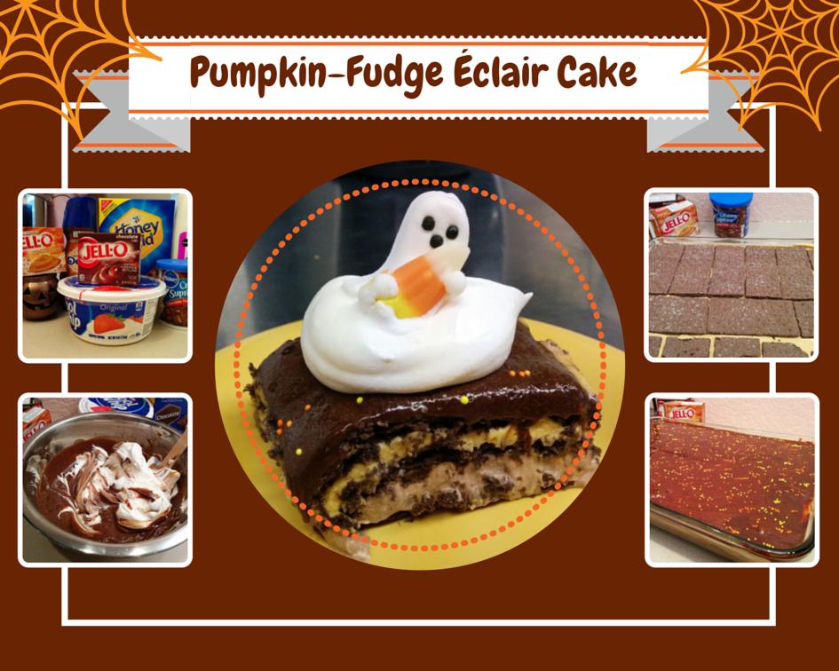 Pumpkin Fudge Eclair Cake