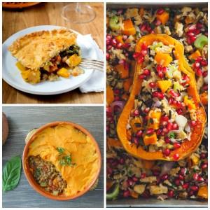 Pumpkin Pot Pie, Sweet Potato Shepherd's Pie, Stuffed Butternut Squash