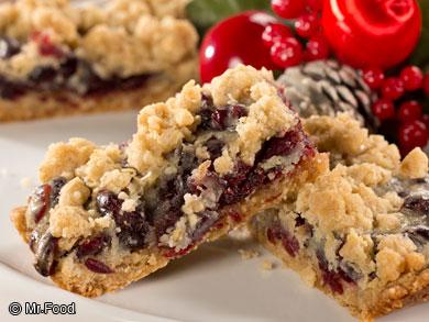 Sour Cream Cranberry Bars
