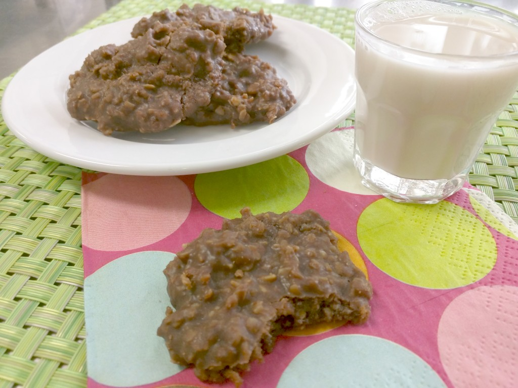 No-Bake Cookies + Almond Milk