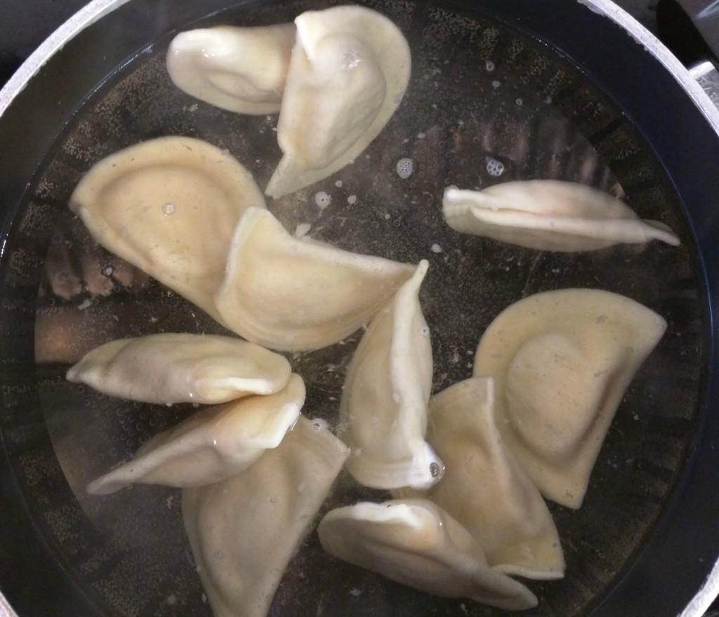 Pierogi Boiling