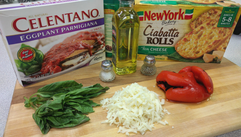 Eggplant Parmesan Sandwich-Ingredients