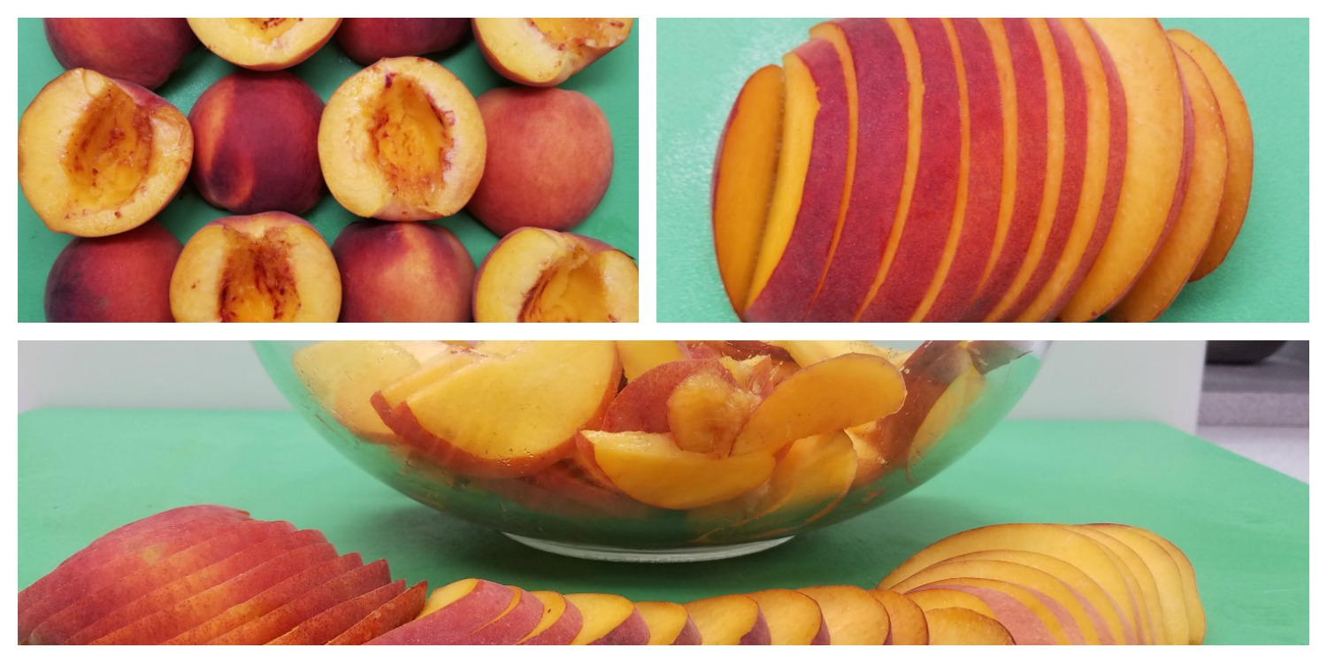 Sliced Peaches for Peach Crumble