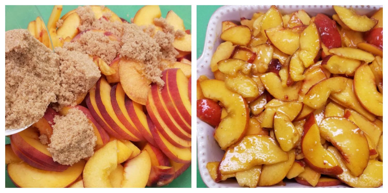 Sugared Peaches for Peach Crumble