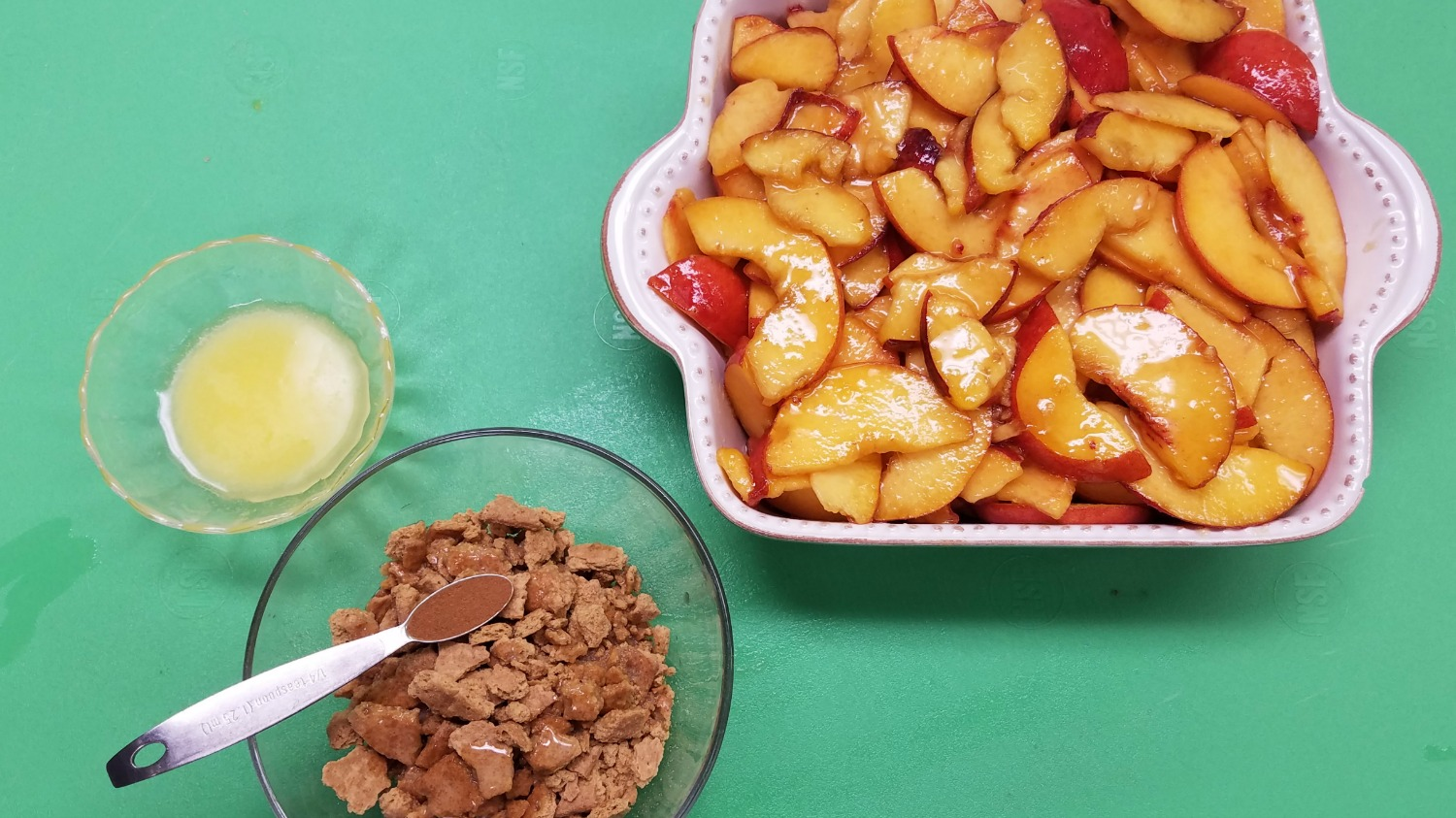 Graham Cracker Topping for Peach Crumble