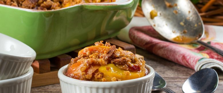 How to Make: Peach Crumble