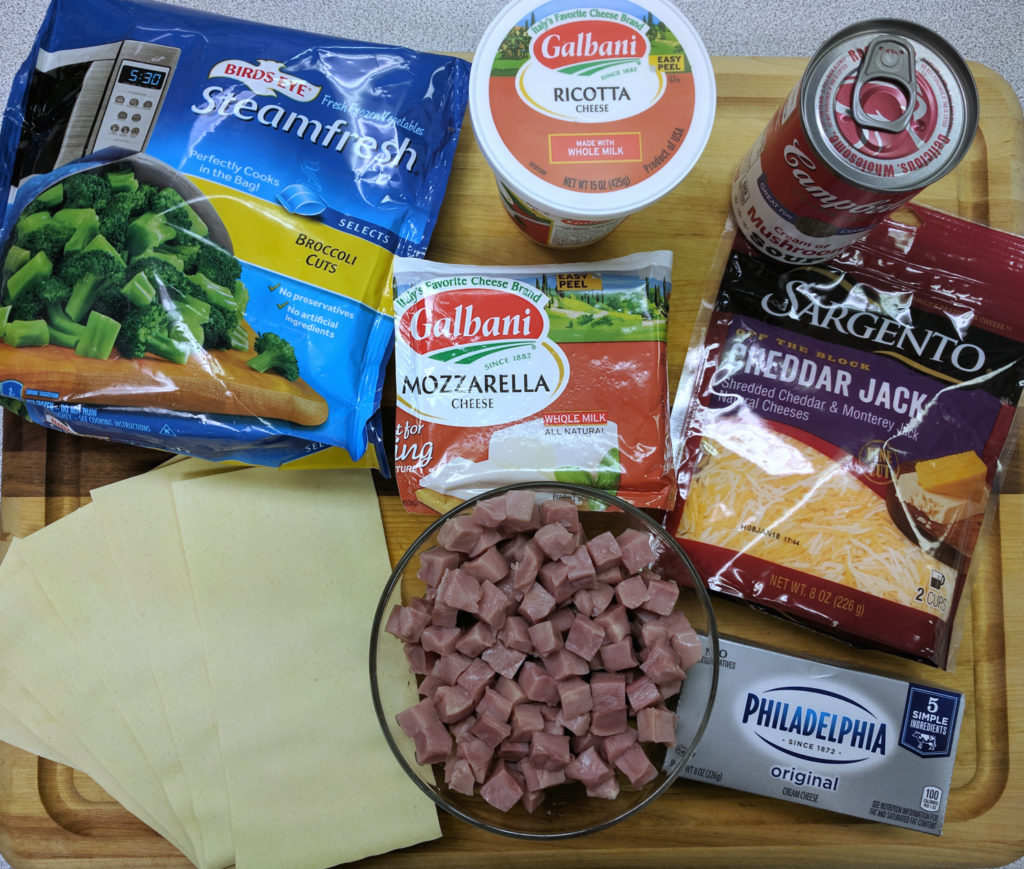 Ham and Cheese Lasagna - Ingredients